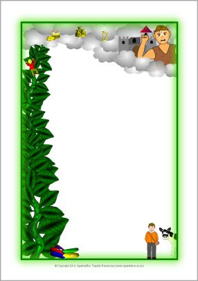 Jack and the Beanstalk A4 page borders (SB3147) - SparkleBox