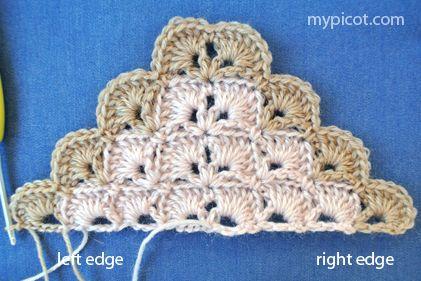 MyPicot | Free crochet patterns, wrap, #haken, gratis patroon (Engels), omslagdoek