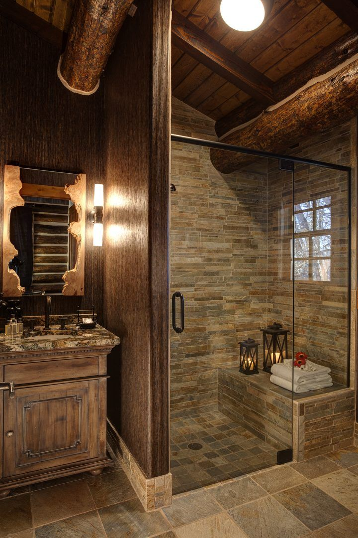 Wonderful shower! Luxury Wyoming Ranch | Guest Ranch in Wyoming | Brush Creek Ranch