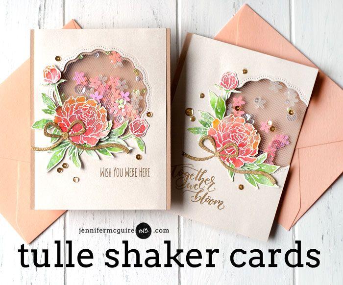 Tulle Window Shaker Card Video by Jennifer McGuire Ink