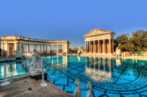 Was here is Summer, amazing.  Hearst Castle, California
