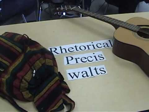 Olympian High School reviews the procedure for writing a rhetorical précis in a whimsical way. 2010