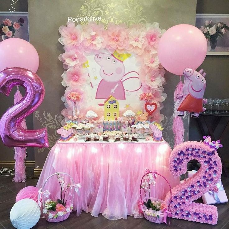 Peppa Pig Birthday Party Cake display