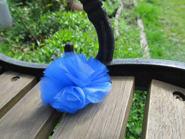 Blue organza Brooch
