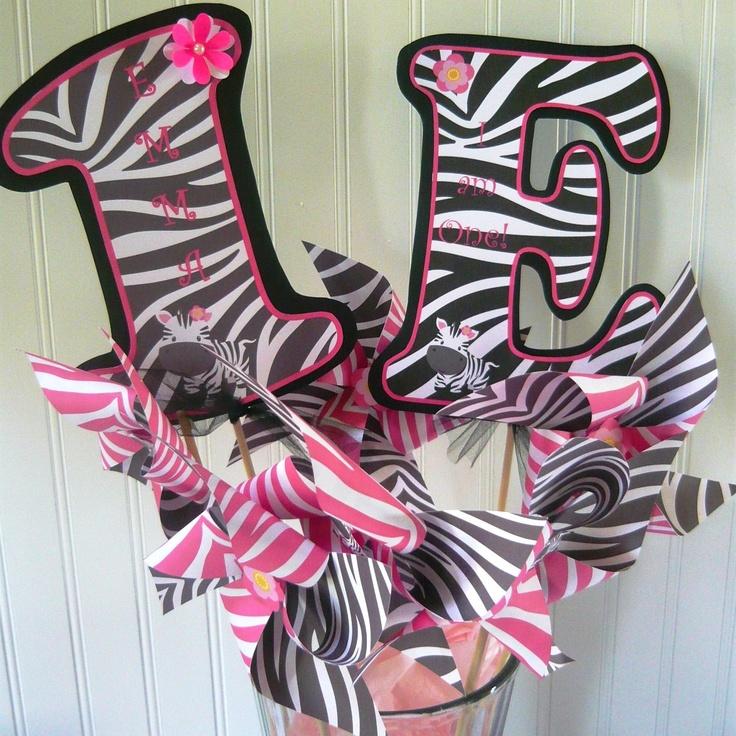 Hot Pink Zebra birthday decoration package by mylittleworldstore, $195.00