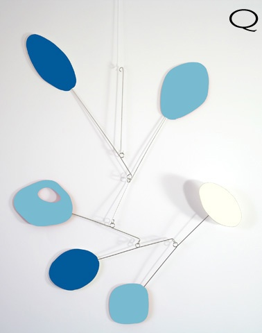 blue baby mobile
