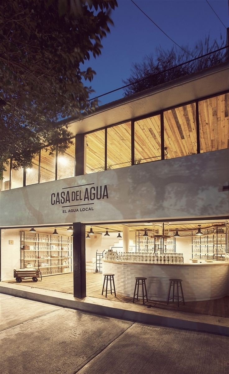 Casa Del Agua (The Local Water) is a water store located in Mexico City and designed by TH Inc.