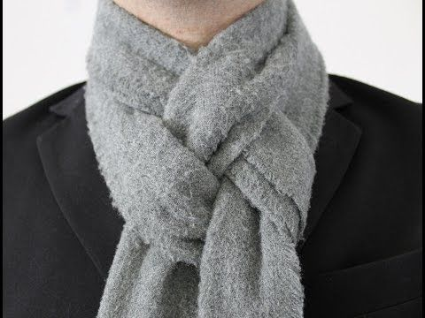 How To Tie a Man's Scarf The Pretzel Knot - YouTube