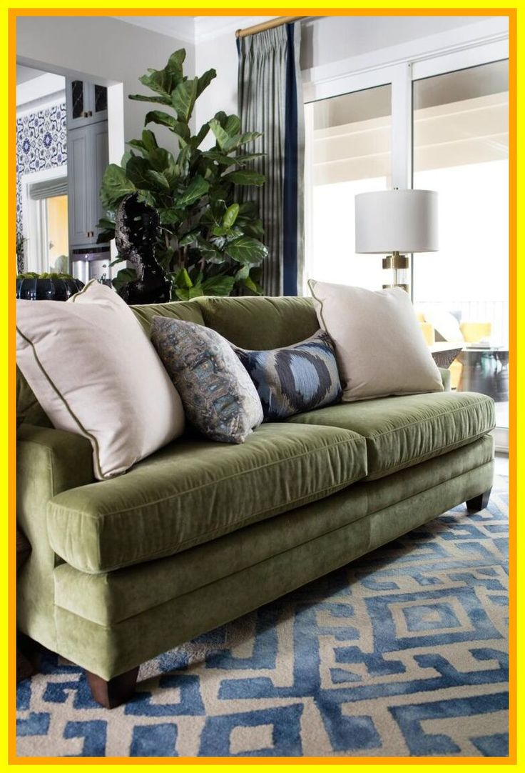 85 reference of couch living room green in 2020  green