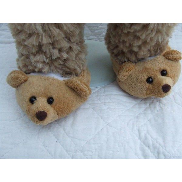 Brown Teddy Slippers