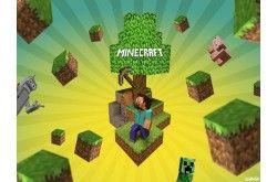 Painel para decoração de festa com tema Minecraft