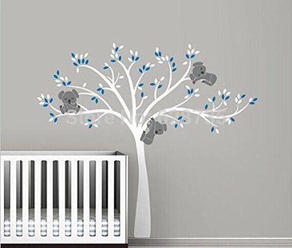 Les 32 meilleures images propos de peinture murale chambre b b sur pinterest arbres cages - Stickers koala chambre bebe ...