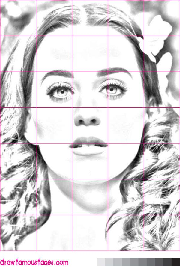 How to Draw Katy Perry Using a Grid