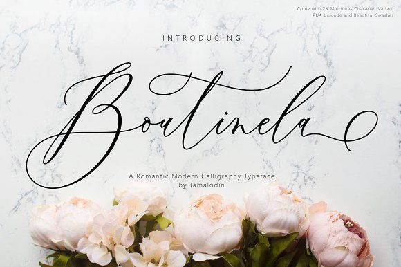 Boutinela Script by Jamalodin on @creativemarket