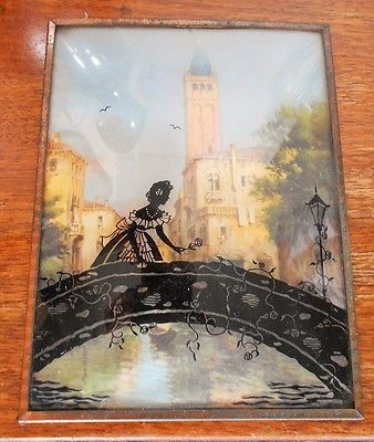 Antique Silhouettes On Glass
