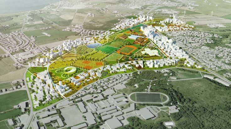 Madla-Revheim Masterplan Proposal / MVRDV + Space Group [ Remindes me of the old bad masterplan of Voldsmose in Odense - Denmark. Too much open green space. TLS]