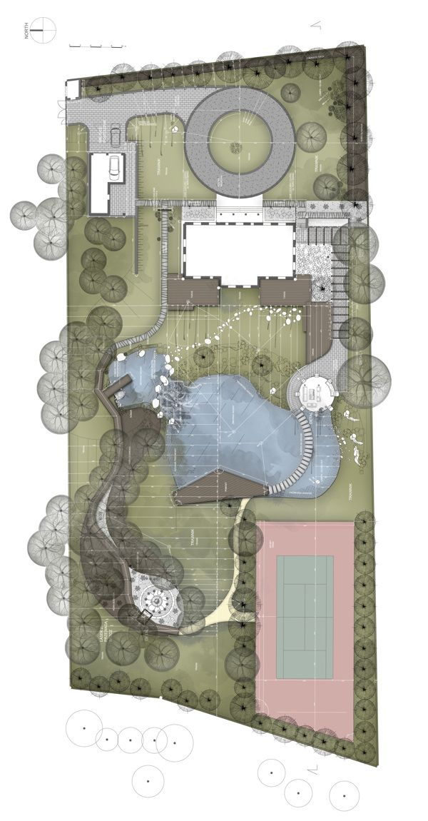 GreenStone Garden - Landscape project by Konrad Wójcik, via Behance