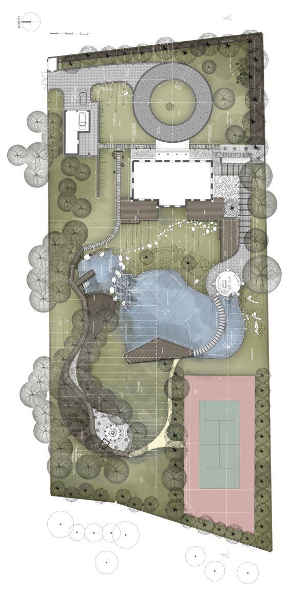 GreenStone Garden - Landscape project by Konrad Wójcik, via Behance