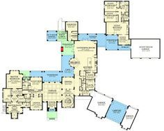 Plan 82153KA: Eight Bedroom Masterpiece with In-Law Apartment