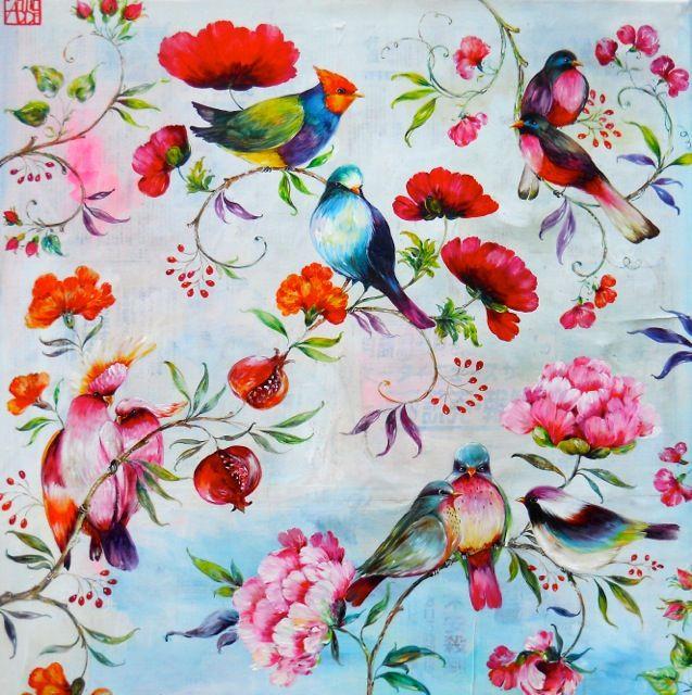 """""""Grande Perse aux oiseaux"""", Sophie ADDE"""