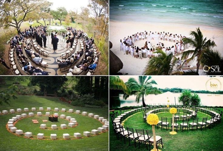 Circle Seating Arrangement For Beach Wedding: Circular Seats Wedding Chair Spiral Decor