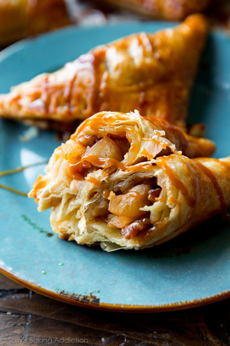 caramel apple turnovers super easy flaky hot apple turnovers with ...