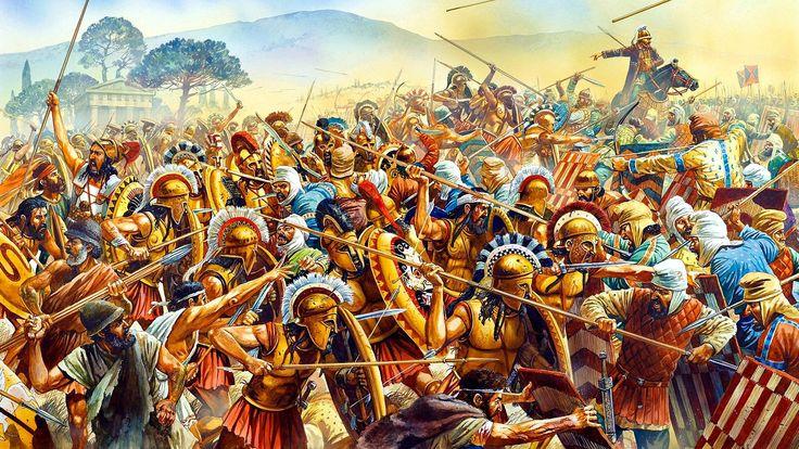 Ilustración de la batalla de Platea.