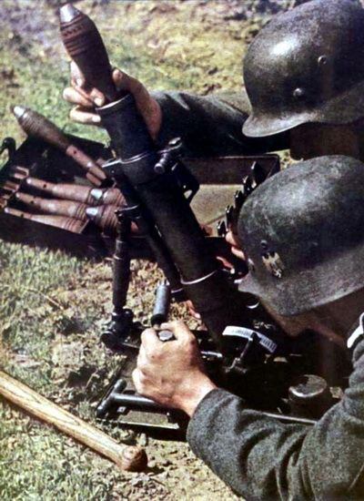 Image result for ww2 german 5cm mortar