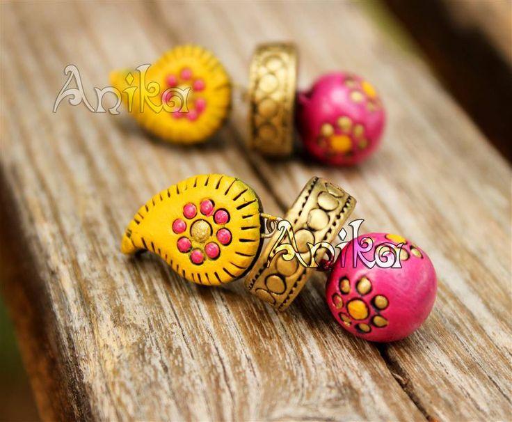 1021 best Terracotta jewellery images on Pinterest Handmade