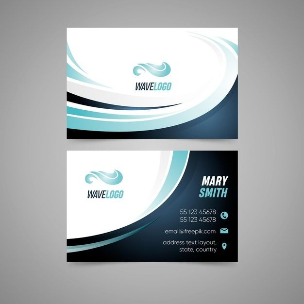 Double Sided Business Card With Sport Design Double Sided Business Cards Business Card Icons Graphic Design Business Card