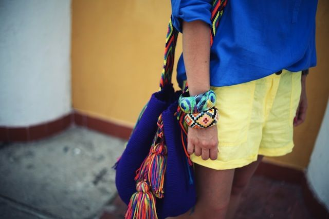 Colorful Wayuu mochila bag