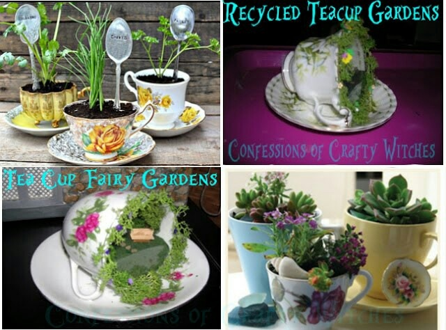 about Tea cup fairy gardens on Pinterest | Gardens, Fairy garden ...