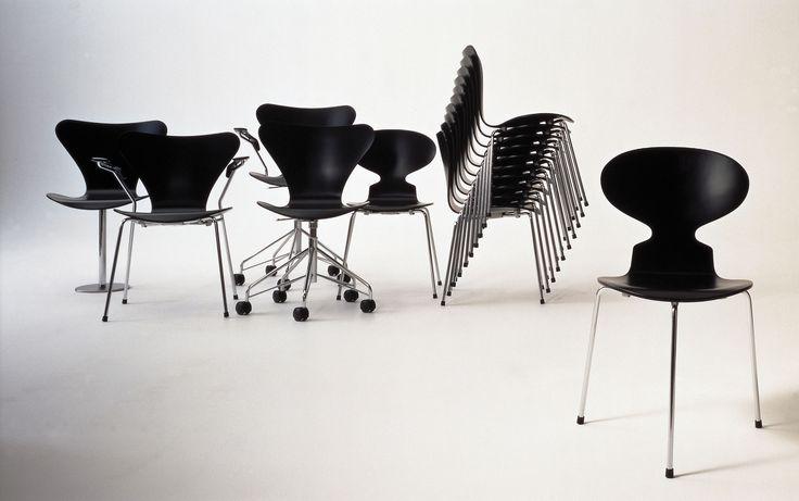 arne jacobsen chairs  Furniture  Arne Jacobsen  Pinterest
