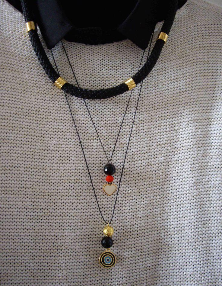 Neckalace and long pendants