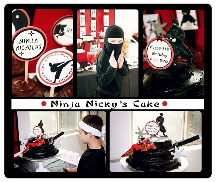 Hi Ya! Ninja Birthday Party! - Kara's Party Ideas - The Place for All Things Party