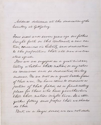 NMAH | Albert H. Small Documents Gallery - The Gettysburg Address