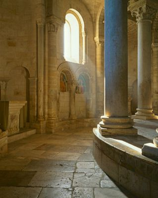 Romanesque Pillars. I like this look for the stone work and color.