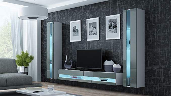 Wohnwand Vigo New3 Anbauwand Wohnzimmer Mobel Hochglanz Mit