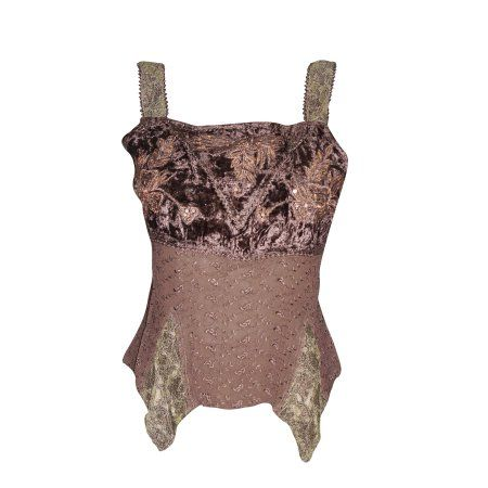Mogul Women's Tank Top Brown Embroidered Strappy Flare Uneven Hem Blouse S   https://www.walmart.com/search/?query=mogul%20interior%20tank%20tops
