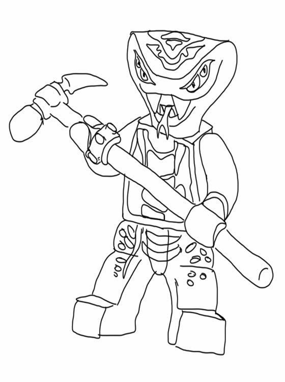 coloring pages ninjago snakes murderthestout | Coloriage ...