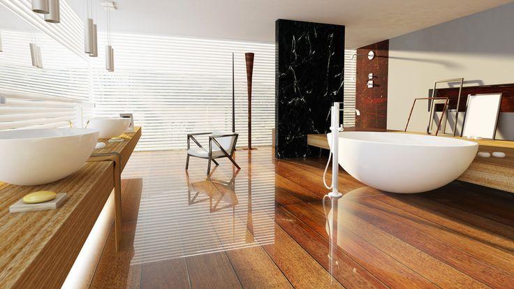 Erstklassige Designs für das stilvolle Bad. Ein Wellnessbad für Zuhause #Badezimmer #Waschtisch #Badewanne #freistehend #Badewannenarmatur #Badideen #Einrichtung #Zuhause #Calmwaters #home #decor #interior #design #bathroom #Extravagant #Holz #Stilvoll #exklusiv #Wellness #Wohnideen