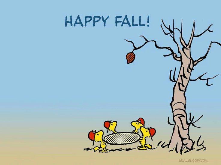 Snoopy ❤ Happy Fall