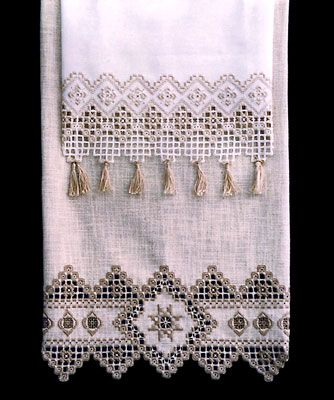 See the pretty Towel Treasures (Hardanger) at Nordic Needle