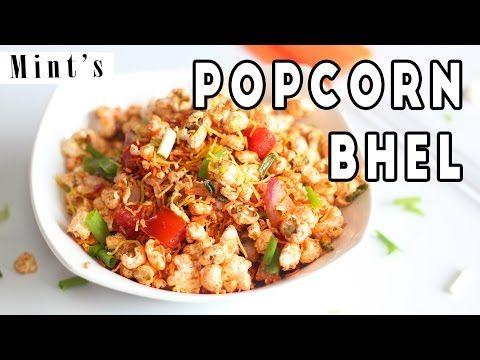 5 Minutes Popcorn Bhel Recipe In Hindi - Evening Snacks Recipes - YouTube