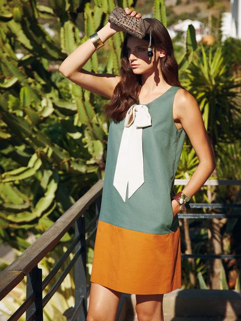 Bow Front Dress by BURDA