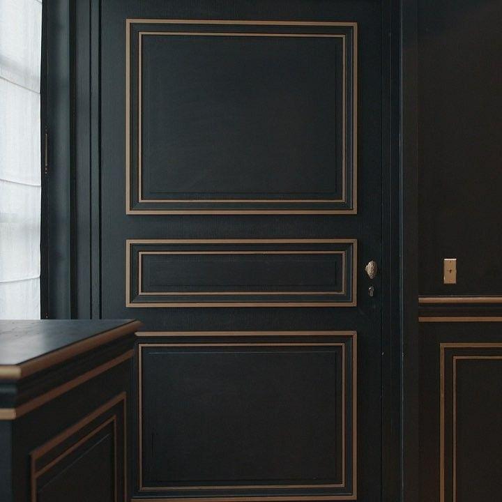 Pin By Danuta Nikiel On Door Window Cornice Design Bedroom Deco Dark Interiors