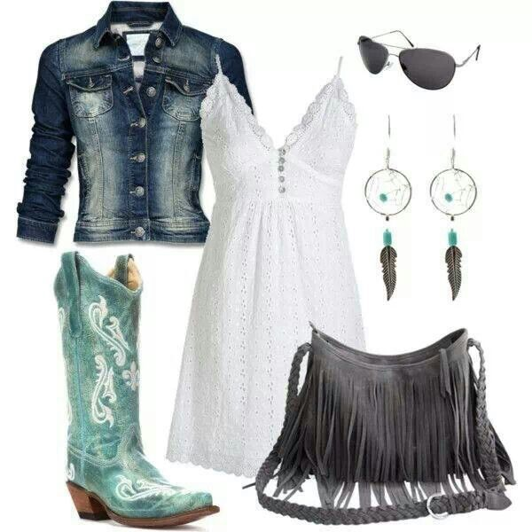 Cute country girl look, summer outfit