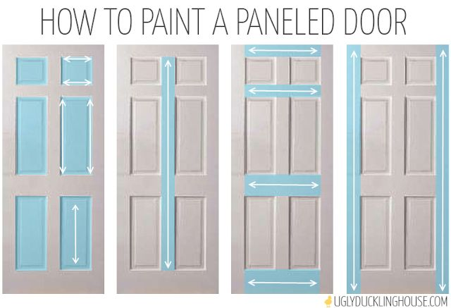 how to paint a six panel door. I need to read this before I paint my bathroom door!