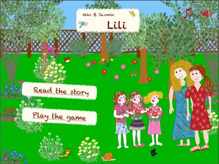 Menu of Lili - an interactive storybook https://itunes.apple.com/us/app/lili-niki-jazmin/id796875529?ls=1&mt=8