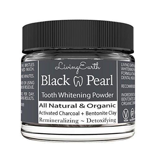 Activated Charcoal Teeth Whitening Toothpaste - Organic & All Natural - Remineralizing Tooth Powder - Anti-Bacterial - Made In USA - 2 fl oz Glass Jar